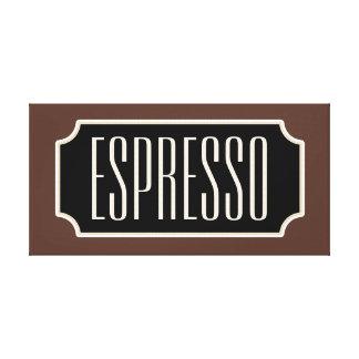 Brown Espresso Sign Canvas Canvas Print