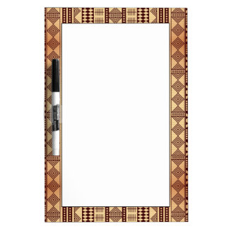 Brown ethnic texture dry erase board