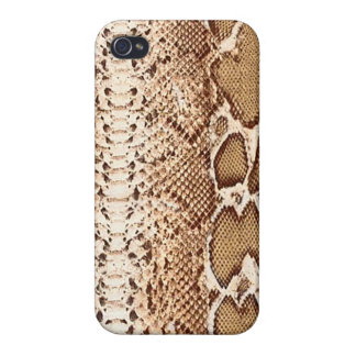 Brown Exotic Snake Skin Cases For iPhone 4