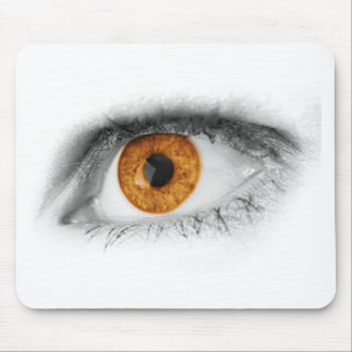 Brown Eye Art Mouse Pad