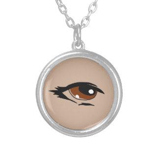 Brown eye design matching jewelry set