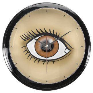 Brown Eye icon Aqua Clock