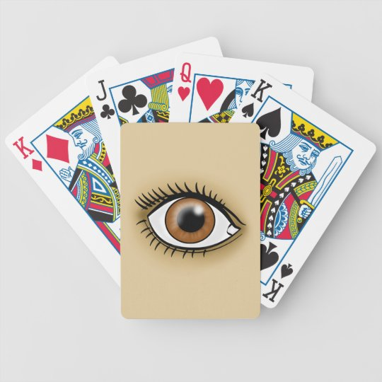Brown Eye icon Bicycle Playing Cards