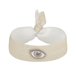 Brown Eye icon Elastic Hair Tie
