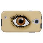 Brown Eye icon Galaxy S4 Case