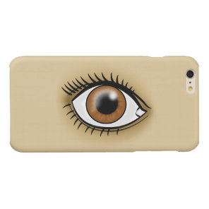 Brown Eye icon Glossy iPhone 6 Plus Case