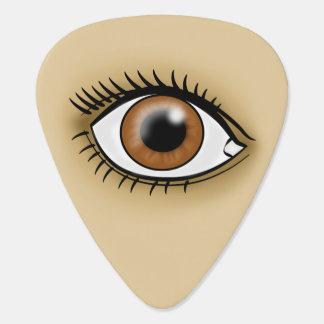 Brown Eye icon Guitar Pick