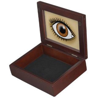 Brown Eye icon Keepsake Box