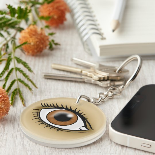 Brown Eye icon Keychain