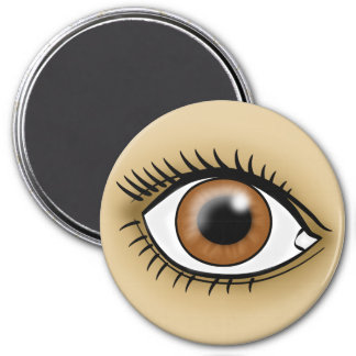 Brown Eye icon Fridge Magnet