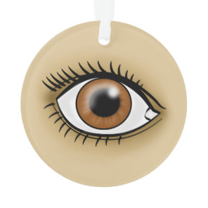 Brown Eye icon Ornament