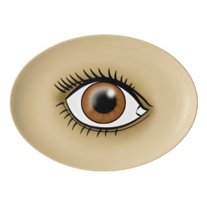 Brown Eye icon Porcelain Serving Platter