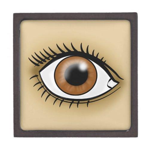 Brown Eye icon Premium Trinket Boxes