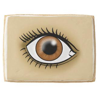 Brown Eye icon Shortbread Cookie