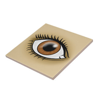Brown Eye icon Tile