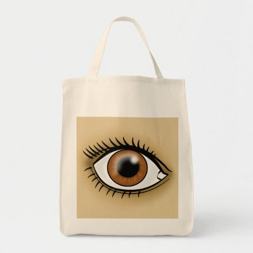 Brown Eye icon Tote Bags