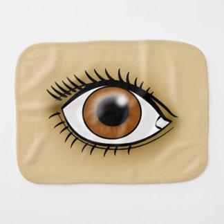 Brown Eye icon Burp Cloths