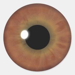 Brown Eye Iris Cool Eyeball Custom Round Stickers