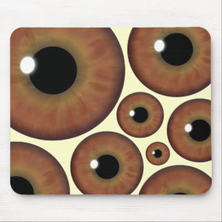 Brown Eye Iris Eyeball Cool Mouse Pad Mousemat