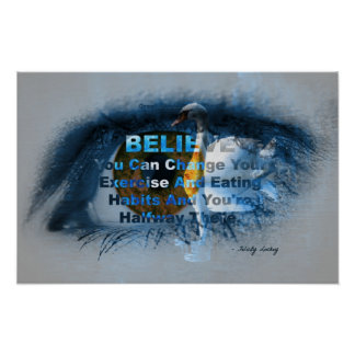 Brown Eye of Fitness Belief! Poster
