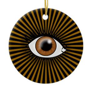 Brown Eye of Horus Ceramic Ornament