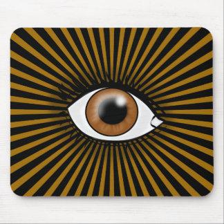 Brown Eye of Horus Mouse Pad