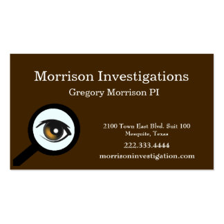Brown Eye Private Investigation Business Card