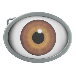 Brown Eyeball Eye Iris Cool Custom Belt Buckle