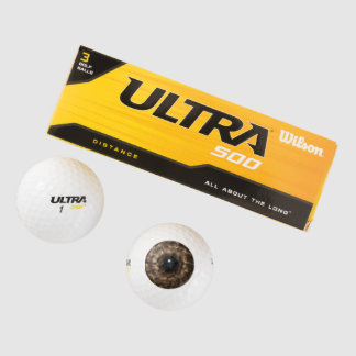 Brown Eyeball Golf Balls