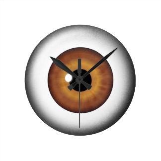Brown Eyeball Iris Eye Medium Custom Round Clock