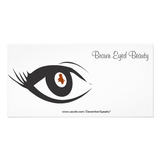 Brown eyed beauty photo card