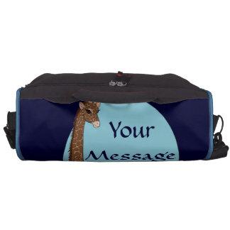 Brown Eyed giraffe Laptop Bag