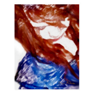 Brown Eyed Girl Painting Postcard