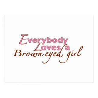 Brown Eyed Girl Postcard