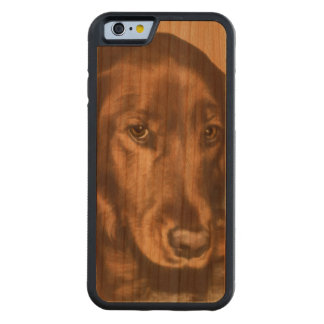 Brown Eyed Golden Irish Dog Carved Cherry iPhone 6 Bumper Case