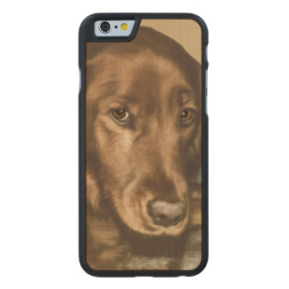 Brown Eyed Golden Irish Dog Carved Maple iPhone 6 Slim Case