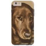 Brown Eyed Golden Irish Dog Tough iPhone 6 Plus Case