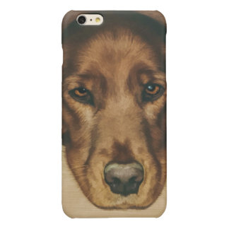 Brown Eyed Golden Irish Dog Glossy iPhone 6 Plus Case