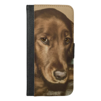Brown Eyed Golden Irish Dog iPhone 6/6s Plus Wallet Case