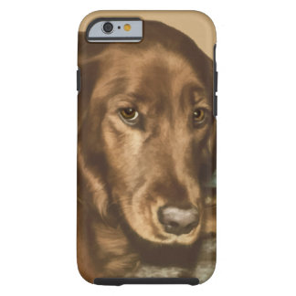 Brown Eyed Golden Irish Dog Tough iPhone 6 Case