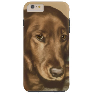 Brown Eyed Golden Irish Dog Tough iPhone 6 Plus Case