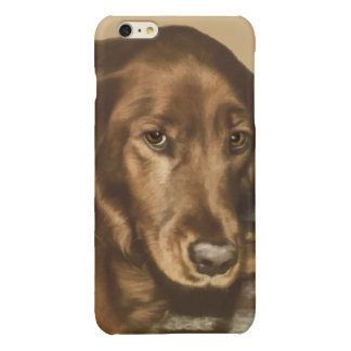 Brown Eyed Golden Irish Sporting Dog Glossy iPhone 6 Plus Case