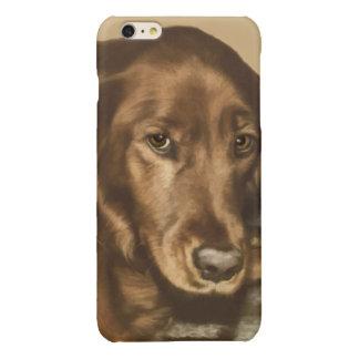 Brown Eyed Golden Irish Sporting Dog Glossy iPhone 6 Plus Case