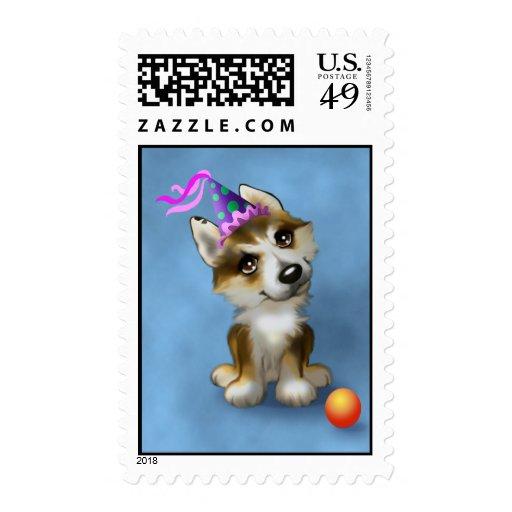 Brown-eyed HuskyB Postage Stamp