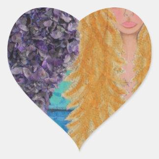 brown eyed mermaid.jpg heart sticker
