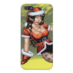 Brown Eyed Ms Claus Christmas Pinup Girl by Al Rio Case For iPhone SE/5/5s