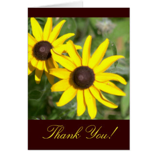 "BROWN-EYED SUSANS ""THANK YOU"" ,  FLORAL PHOTOG) CARD"