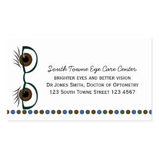 Brown Eyes and Glasses Business Card Templates