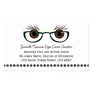 Brown Eyes and Glasses Business Cards