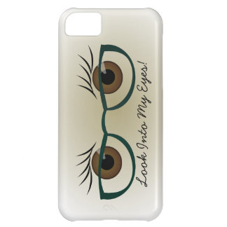 Brown Eyes and Glasses Cover For iPhone 5C